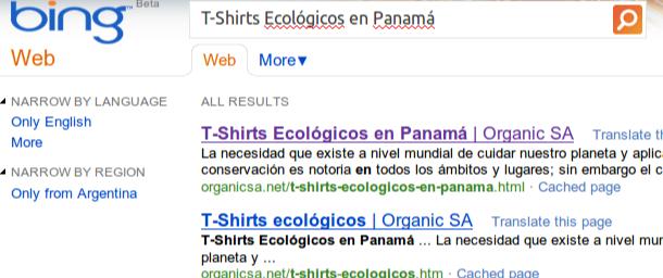resultados en bing para t-shirts ecologicos en panama